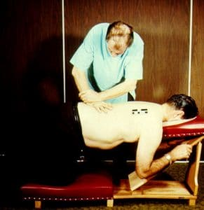Dr. Gonstead Knee Chest Adjustment